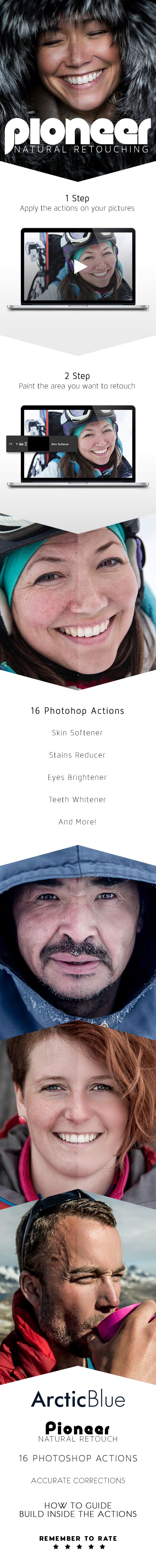 Pioneer - Natural Retouching Actions - Photo Effects Actions