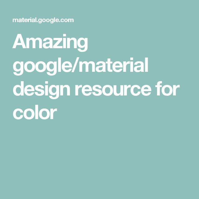 Amazing google/material design resource for color