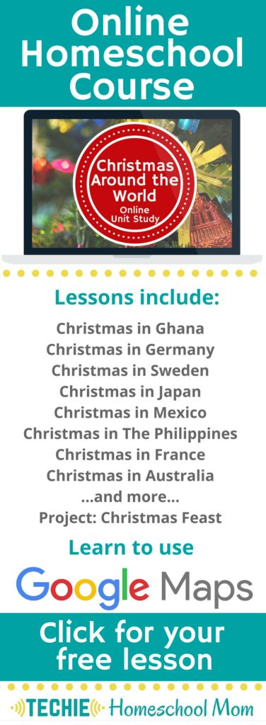 Learn about Christmas Around the World with Online Unit Studies. This homeschool curriculum integrates multiple subjects for multiple ages of students. Access websites and videos and complete digital projects. With Online Unit Studies' easy-to-use E-course format, no additional books and print resources are needed. Just gather supplies for hands-on projects and register for online tools.