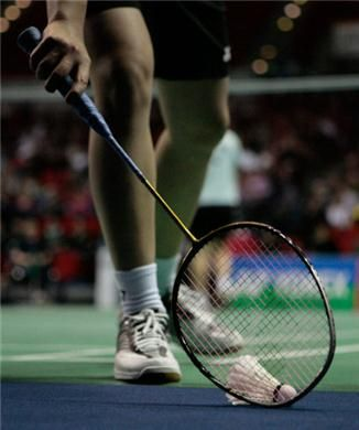 I loved badminton and played doubles.