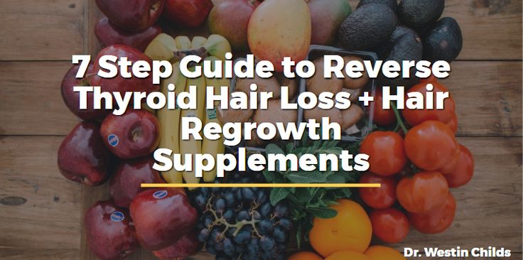 Are you suffering from thyroid hair loss? Patients can have hair loss despite being on thyroid medication, use this guide to grow your hair back for good.