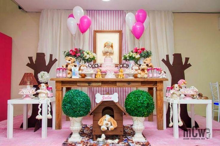 Festa provençal,Tema de festa infantil, Decoração de festa infantil, festa infantil Provençal: Festa do tema Cachorrinho