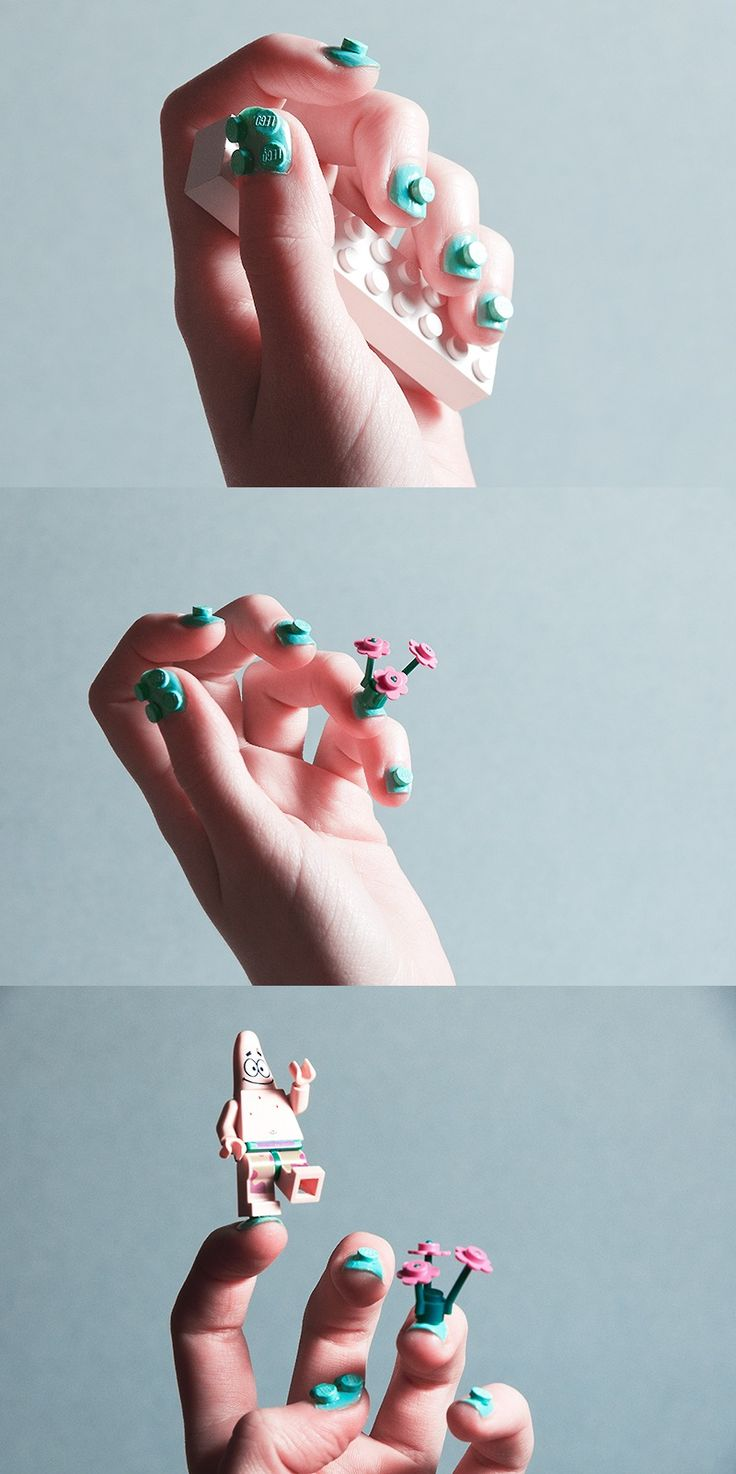 LEGO Nail Art.....the nerd in me just cried tears of joy :'D