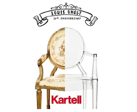 Louis Ghost Chair Kartell 10 Year Anniversary | Graphic and catalogue
