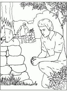 Авель и Каин. Библейские раскраски скачать с http://alla-kon.livejournal.com/