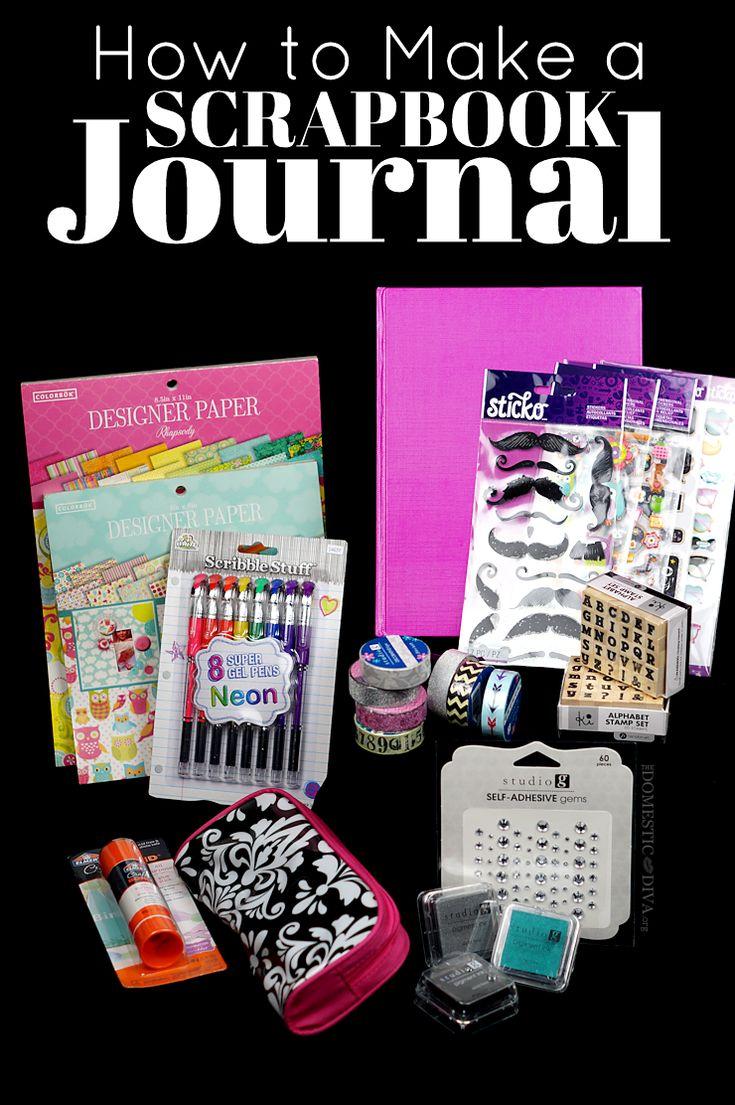 How to Make a Scrapbook Journal:  DIY Smashbook supplies from Walmart