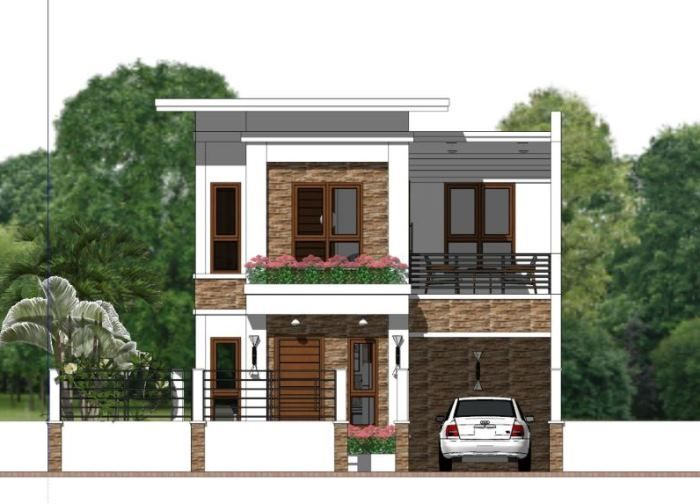 Narrow Lot Two Storey House Plan With 4 Bedrooms Cool House Concepts Two Storey House Plans House Plans Narrow Lot House Plans