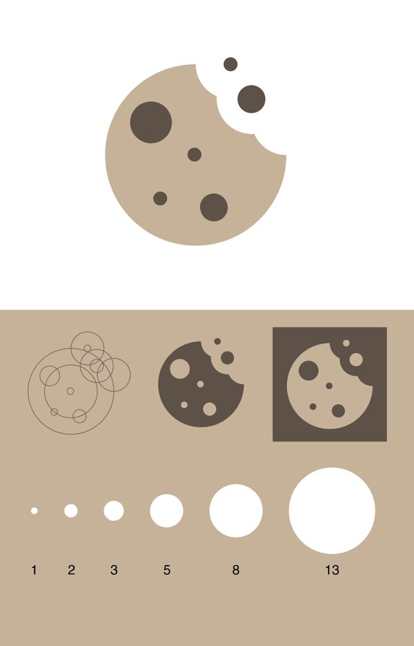 Cookie icon - golden ratio by Umano , via Behance
