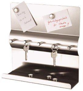 Edelstahl Schlüsselbrett mit Magnetwand + Magnete Schlüsselleiste mit Magnettafel Schlüssel-und Memoboar Schlüsselbrett: Amazon.de: Küche & Haushalt