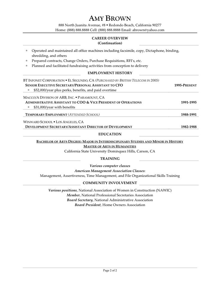 Ideal Objective For Resume Sample Executive
