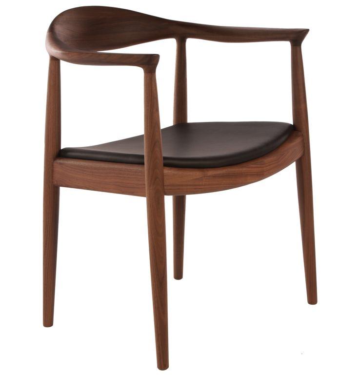 Replica Hans Wegner Round Chair Walnut - Matt Blatt