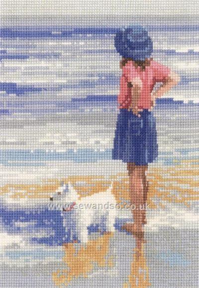 Wave Watching Cross Stitch Kit