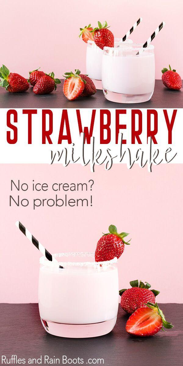 The Dreamiest Easiest Strawberry Milkshake In 5 Minutes Recipe Milkshake Recipe Strawberry Strawberry Milkshake Recipe Without Ice Cream Strawberry Milkshake Recipe Easy