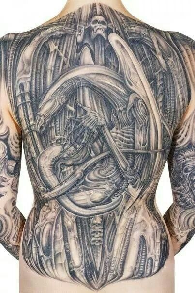 biomechanical giger tattoo - photo #33