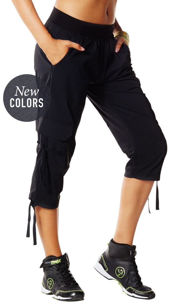 Oh-So-Soft Stretch Cargo Capris | Zumba Wear Save 10% on Zumba® wear on zumba.com. Click to shop with 10% discount http://www.zumba.com/en-US/store/US/affiliate?affil=10sale