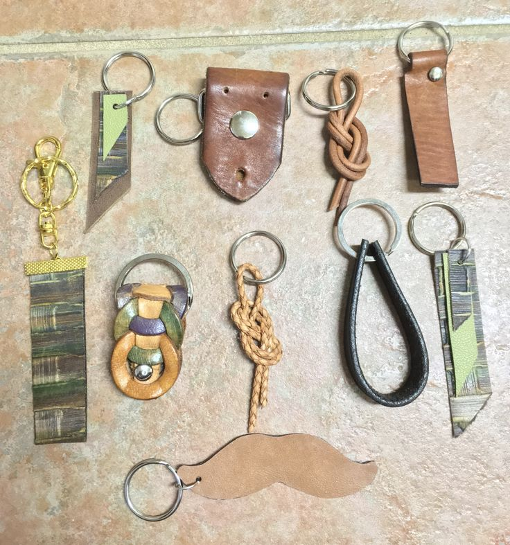 Lots a leather Key Chains or Fobs  by Junie8ug