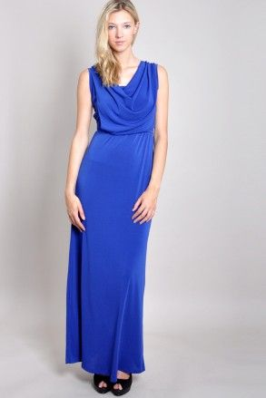 WalG Cowl Neck Maxi Dress | Get Free Delivery in UK on all Orders over £60 at Walg.
