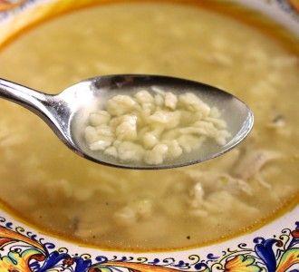 Grattini all Uovo in soup