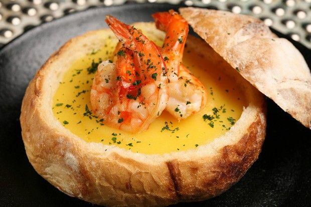 Receita de sopa de batata baroa com camarão