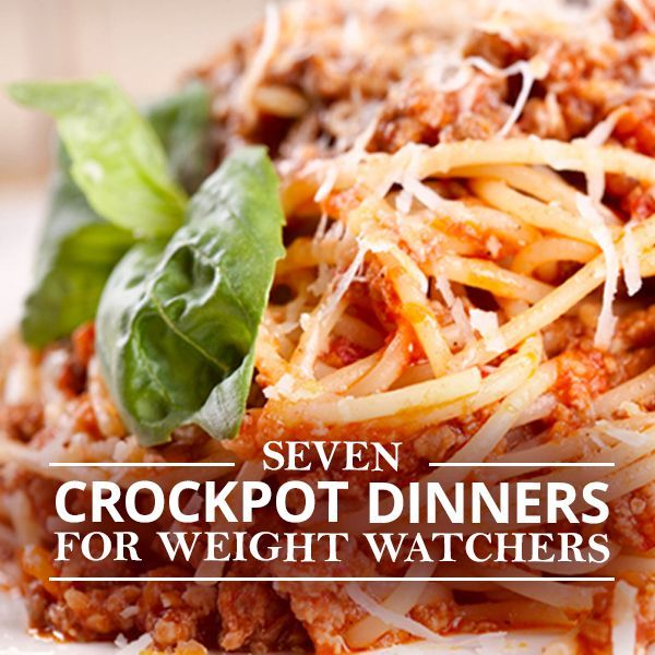 7 Crockpot Dinners for Weight Watchers - Enjoy these delicious recipes with 7 points or less. #weightwatchers #crockpot #recipes