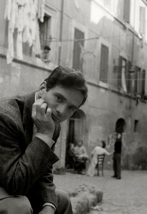 "Herbert List Writer/Director Pier Paolo Pasolini, Trastevere, Rome 1953 ""Nothing remains but to hope the end will come to extinguish the unrelenting pain of waiting for it."" Pier Paolo Pasolini"