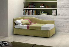 divano letto singolo rete estraibile e cassetti