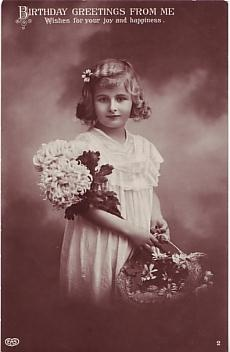 E A Schwerdtfeger Postcard - Birthday Greetings From Me  c1912