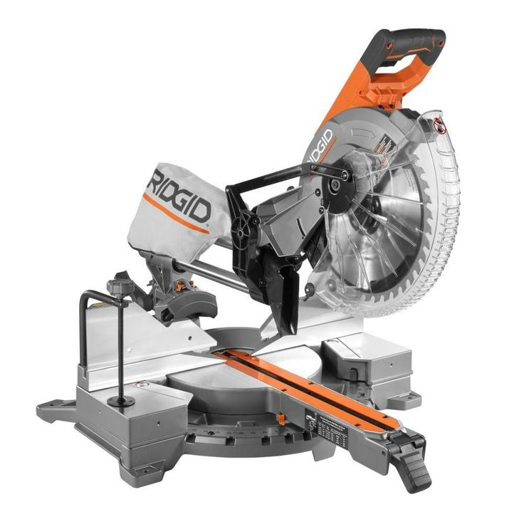 RIDGID 15 Amp 12 in. Corded Dual Bevel Sliding Miter Saw with 70 Degree Miter Capacity-R4221 - The Home Depot