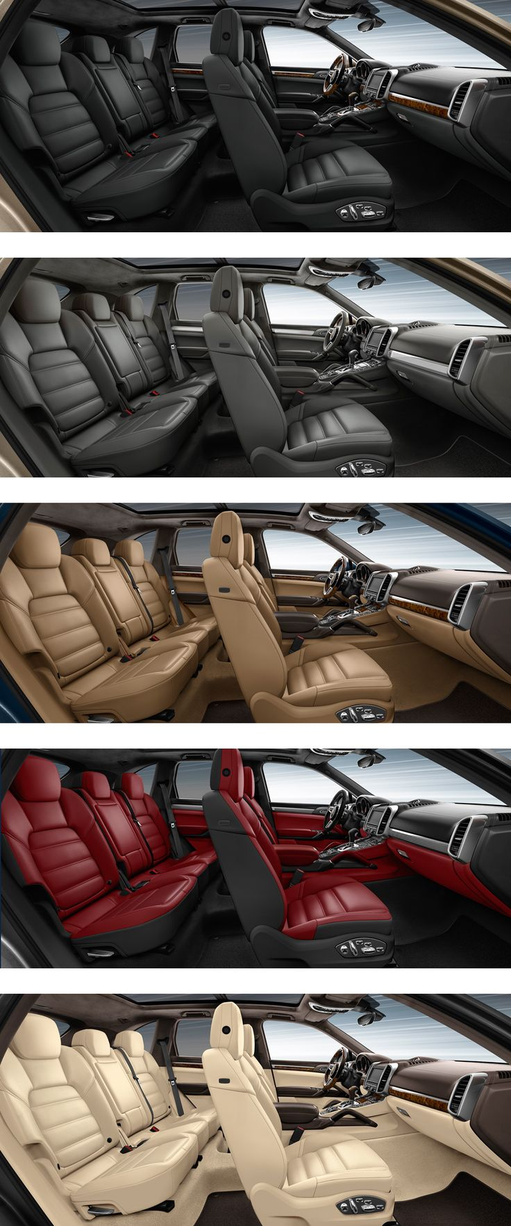 #PorscheCayenne interior ambience: The palette of colours and finishes ranges from elegant to sporty, and includes a selection of fine woods, aluminium and carbon. Learn more: http://link.porsche.com/cayenne?pc=92AAXPINGA Combined fuel consumption in accordance with EU 5/6: Cayenne models 11.5-6.6 l/100 km, CO2 emissions 267-173 g/km. Cayenne S E-Hybrid 3.4 l/100 km, CO2 emissions 79 g/km; Combined electricity consumption 20.8 kWh/100 km