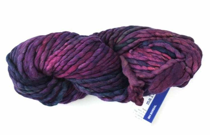 Malabrigo Rasta chunky yarn, color Boreal, 844, dark rainbow