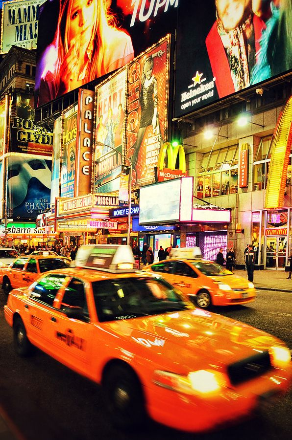 Times Square (USA). 'Like it or loathe it, Times Square offers the quintessential New York conglomeration of bright lights and oversized billboards that soar above the relentless crowds and thick streamers of concrete.' http://www.lonelyplanet.com/usa/new-york-city