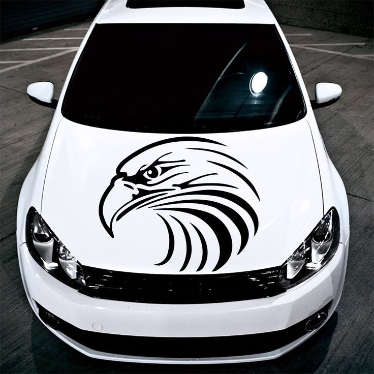 Car decals hood decal vinyl sticker eagle predator bird auto decor graphics os111