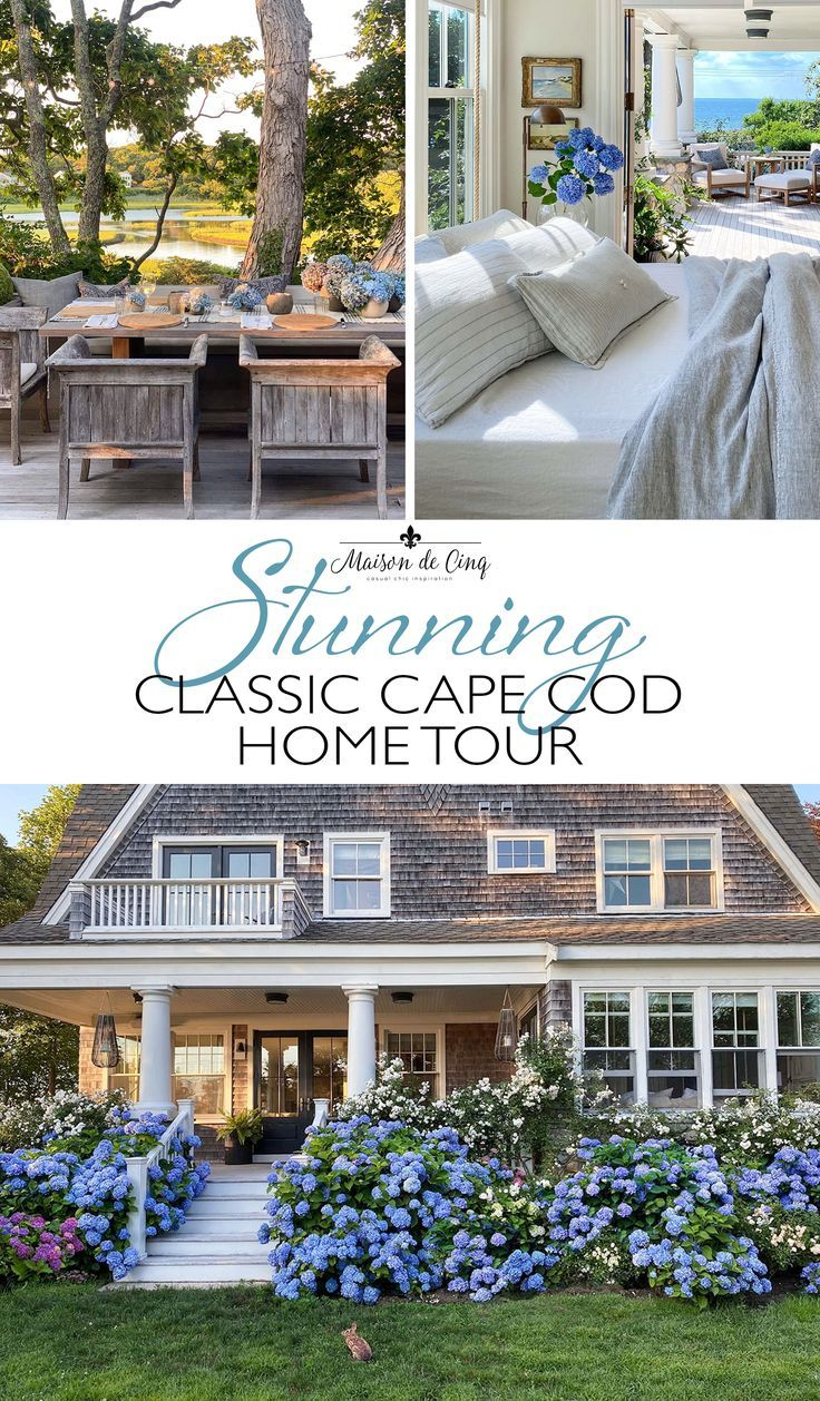Stunning Classic Cape Cod Home Inspiring Home Tour In 2020 Cape Cod House House Tours French Farmhouse Decor