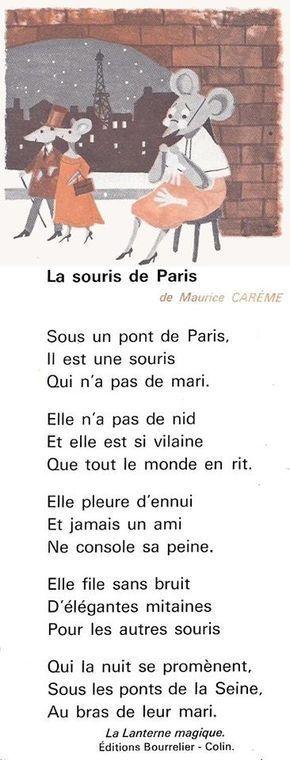 La Souris de Paris (poésie de Maurice Carême) – …