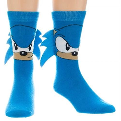 Sonic The Hedgehog Big Face Crew Socks with Quills [Appar...