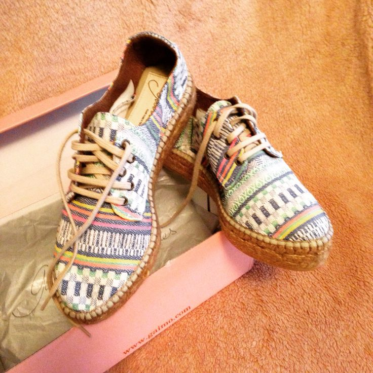 My new multi-coloured espadrilles #zapatoscabuya summer time has arrived, kind of!
