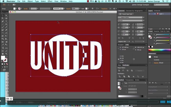 how to create knockout text in illustrator
