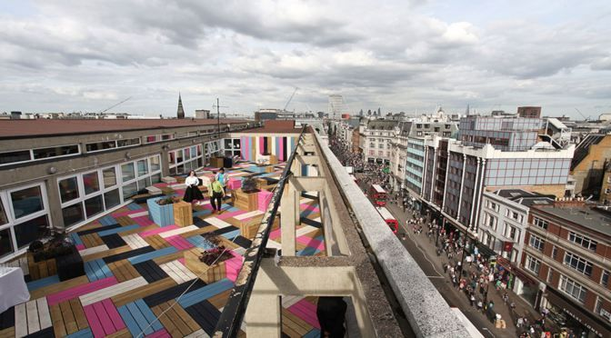 LONDON,  ROOFTOP AT LONDON COLLEGE OF FASHION BY STUDIO WEAVE