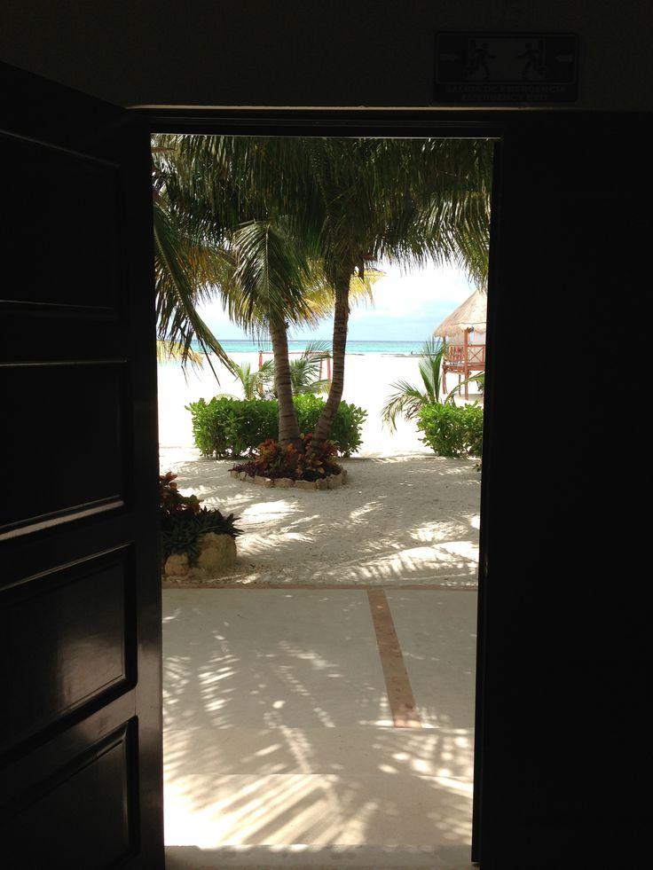 Steps away from the beach at El Dorado Maroma