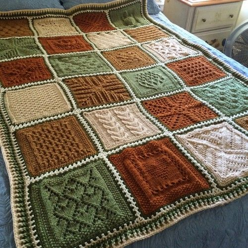 Knitting Quilt Patterns : The best ideas about knitted blankets on pinterest