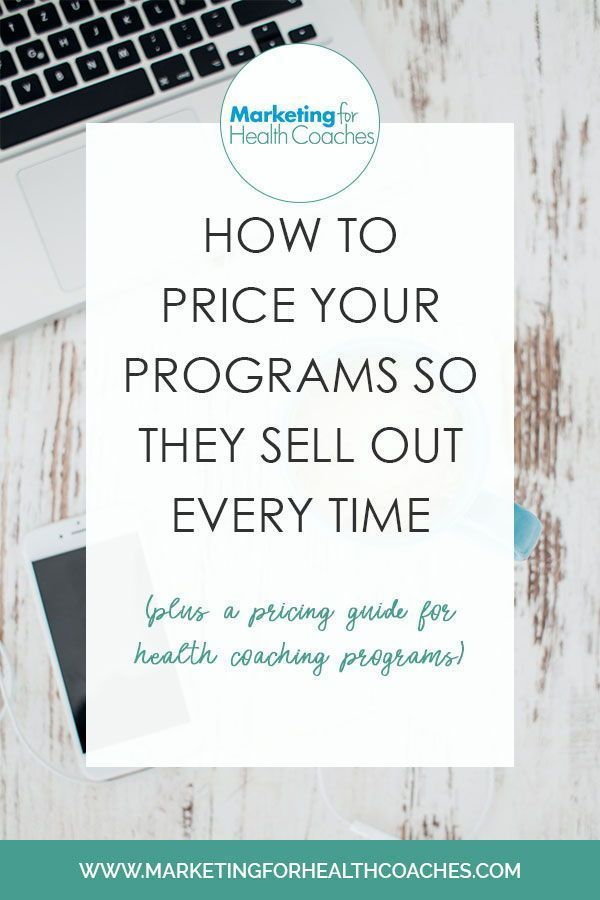 How To Price Your Programs Marketing For Health Coaches Health Coach Coaching Business Health Coach Marketing