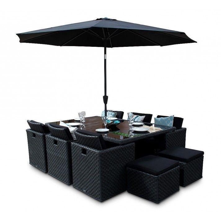 Woburn Black Rattan Cube Outdoor Furniture 10 Seater Set Quality Black Rattan Garden Furniture In 2020 Cube Furniture Garden Furniture Sets Outdoor Furniture