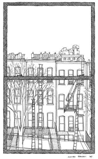 Mateo Pericoli, line drawings of Brooklyn