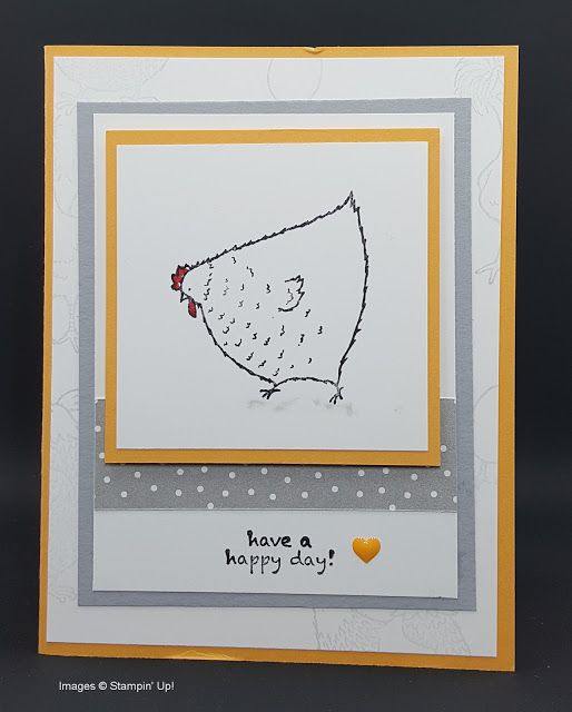 Stamping in Columbus, GA: Clean chicky card