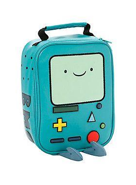 "<p><i>Adventure Time</i> insulated lunch box cooler bag with BMO design. Lenticular face. Full zip closure. Reinforced handle.</p>  <ul> <li>7"" x 3"" x 9""</li> <li>100% PU</li> <li>Imported</li> </ul>"