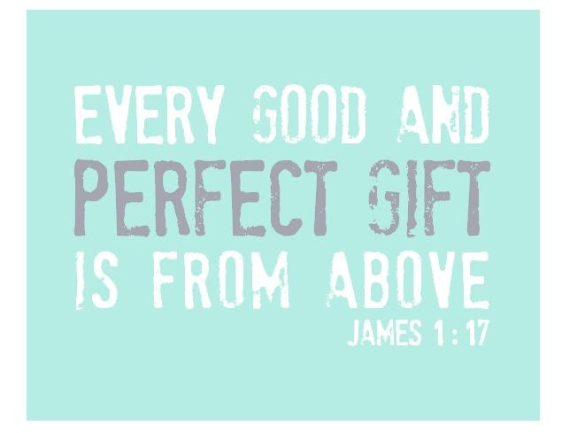 Nursery Print | James 1:17Wall Art, Perfect Gift, Quote, James 1 17, Nursery Art, Art Prints, Baby Wall, Nurseries Art, Bible Verses