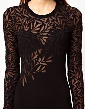 Enlarge Jonathan Saunders Devore Long Sleeve Maxi Dress