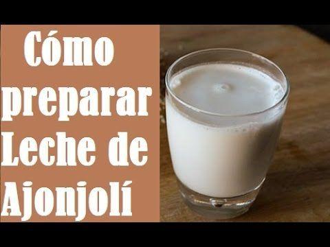 Leche de Ajonjoli o Leche de Sesamo (Como prepararla) - Fuente de Calcio...