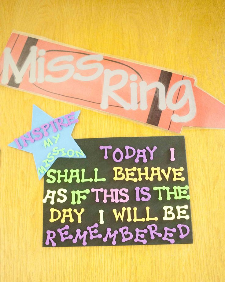 Leader in Me - my personal Mission Statement on my door