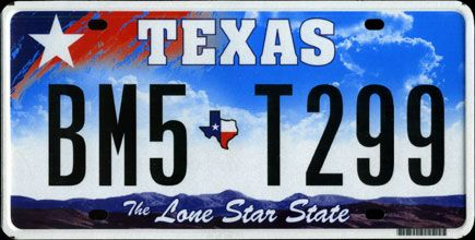 Vehicle Registration Renewal Is different In The State of TexasLicense Plate